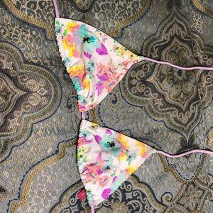 Victoria Secret Floral Triangle Bikini Top